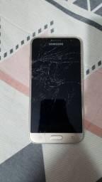 Galaxy J3 tela quebrada touch funcionando