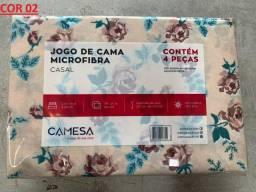 2 Jogos De Cama Microfibra - Casal - 4 Peças - 150 Fios