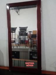 Espelho de parede c/ moldura. 1.20 x 0.60
