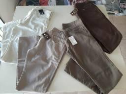 Calças masculinas com elastano