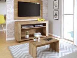 Rack + Painel para tv até 32 polegadas + Mesinha de Centro
