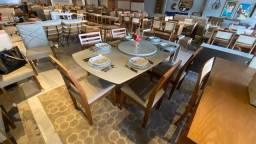 Título do anúncio: Mesa de jantar resistente de madeira maciça