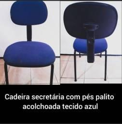 Título do anúncio: Cadeira Secretaria Fixa Pé Palito. Conservada!