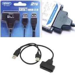 Título do anúncio: Adaptador Conversor USB Sata Hd 2.5 Notebook E Ssd - Entrega Grátis