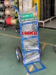 Carrinho carga 180kg pneu e camara
