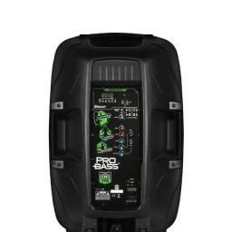 "Caixa som Ativa Bluetooth Usb - Probass 800 Watts 15"""