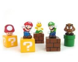 01 Kit com 05 Peças: Goomba / Koopas Trooper / Luigi / Mário / Toad - Super Nintendo SNES