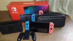 Console Nintendo Switch completo com Nota Fiscal