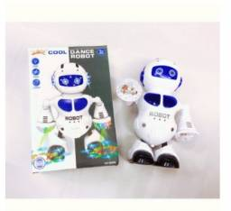 Robo Dançante que Brilha Luzes Som e Musica Brinquedo para Crianças