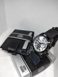 Kit promocional Relógio + carteira apenas 50.00