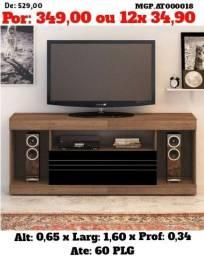 Rack com televisão até 60 Plg- Estante de TV - Liquida em Cascavel e Foz do iguaçu