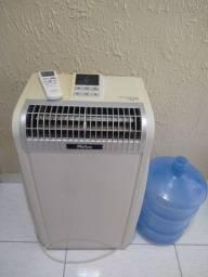 Ar-condicionado portátil funcionando perfeitamente
