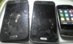 Troco 3 celulares por 1 Samsung