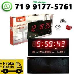 Título do anúncio: Relógio Parede Digital Painel Led Grande , data , termometro 46 centimetros (NOVO)