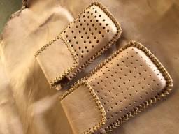 10 Capinhas de couro para celular ( feita à mão )
