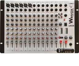 Mesa De Som Bluetooth 12 Canais Uwx 12 Usb Efeito Fm