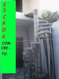 Escada caracol concreto