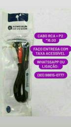 Cabo P2 RCA Audio