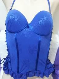 Espartilho azul