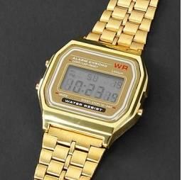Relógio Elegante Masculino, De Aço Inoxidável Relógio Esportivo Digital Lcd Relógio De Pul