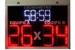 Placar Eletrônico Esportivo com Cronômetro