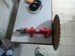 Eixo e disco para serra de bancada