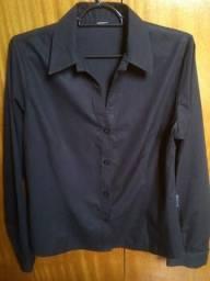 f31f966757 Camisa manga longa preta sem detalhes
