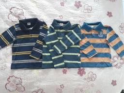 Lote camisas Milon, Brandili e Kiko