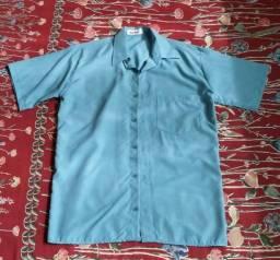 Camisa Manga Curta - Nova - M - Azul Claro bbc220b69e224