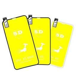 Película 5d Nano Gel Proteção Celular Smartphone Iphone Xiaomi Samsung Motorola