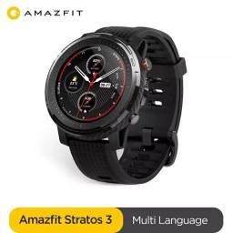 Relógio Smartwatch Xiaomi Amazfit Stratos 3 Black Original <br><br>