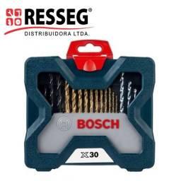 Kit de acessórios broca/bits x-line 30 peças com maleta Bosch