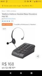 Telefone headset base discadora