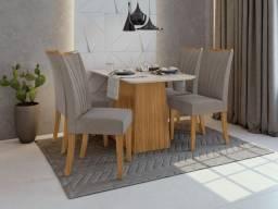 Sala de Jantar Nevada 1,20m com cadeira apogeu - Entrega Grátis p/ Fortaleza