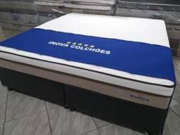Cama box Super King Gigante + Colchão molas ensacadas (Baixou o preço)