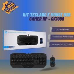 Kit teclado e mouse gamer GK1000 - HP | Lacrado com garantia