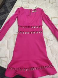 Vestido rosa nova p