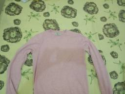 Camisa rosa de manga longa