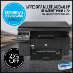 Impressora Multifuncional Hp Laserjet M1132 Mfp - com Garantia e com Toner