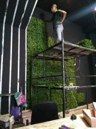 Jardim vertical artificial montagens