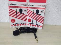 Microfone de lapela stereo p3 xtrad ch 043* são luís