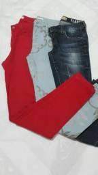 Calças jeans várias cores