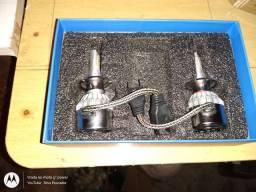 Kit Lâmpadas Ultra Led Full 7600l Efeito Xenon Super Branca H7