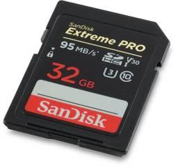 Cartão 32gb Sd Sandisk Extreme Pro 95mb/s -