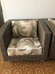 Sofa de vime Semi Novissimo
