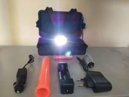 Lanterna Tática Muito Potente - Recarregável