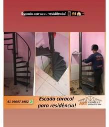 Título do anúncio: Escada caracol, escada reta, escada em L