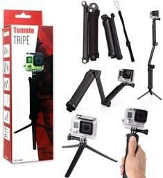 Tripé 3 em 1 para Câmeras GoPro E Action Cam - MZP-003