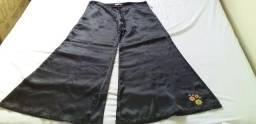 27 calça Pantalona Carnin bordada Tam M  (nova -tipo seda)