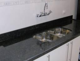 Título do anúncio: Pia de cozinha mármore preto fosco